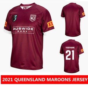 اسم مخصص وعدد العدد 2021 كوينزلاند maroons دولة المنشأ جيرسي أستراليا كوينزلاند كوينزلاند الرغبي الفانيلة ماماون جيرسي الركبي دوري قميص S-3XL