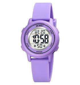SKMEI 1721 LED Light Digital Children Sport Watches Stopwatch Calendar Clock 5Bar Waterproof Kids Wristwatch For Boys Girls Gift