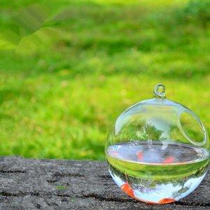 Novelty Items Diameter=10cm 8pcs pack Glass Material Terrarium Aquarium Home Decorative Handmade Hanging Fishbowl Flat And Round Bottom
