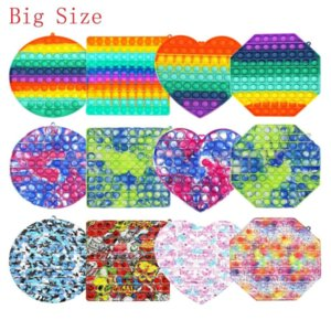 US STOCK Super Big Size 30cm Fidget Toys Push Bubble Autism Needs Squishy Stress Reliever Rainbow Toys Adult Kid Funny Anti-stress Fidget Party Gifts
