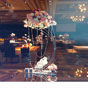 """Gold Flower Stand 82CM 32.3"""" Tall Metal Road Lead Wedding Centerpiece Flowers Rack For Event Party Home Decoration"""