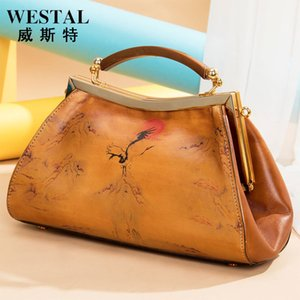 Handbag Painted Leather Women's Hand Held Dinner Bag Fashion