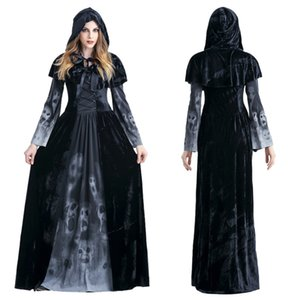 Halloween Adult Female death drs horror skeleton vampire role play costume stage bar DS Costume