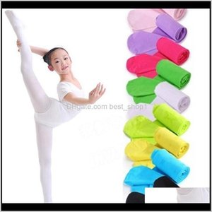 Pants Baby Baby, & Maternity Drop Delivery 2021 Children Girls Pantyhose Ballet Tights Velour Elastic Leggings Solid Girl Dance Stockings Kid