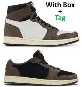 Melhor Qualidade 1 Alta OG TS Cacto Jack Camurça 3M Basquetebol Sapatos Homens Mulheres 1S TS Sports Sneakers com caixa