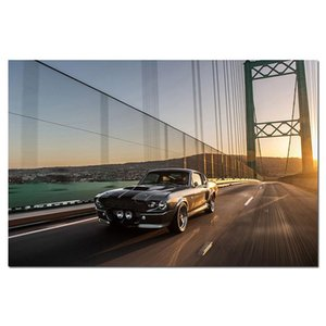 Home Decor Canvas Painting 2000 Ford Mustang GT500 Eleanor Car Pictures Wall Art HD Prints Modular Poster Frame For Living Room Paintings