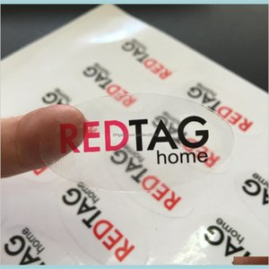 Labels & Tags Labeling Tagging Supplies Retail Services Office School Business Industrial Customized Oval Black And Red Clear Pp Trans