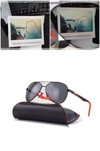 Good polarized sunglasses top quality luxury designer aviation pilot sun glasses for men women with black or brown leather case UV400 and boxs