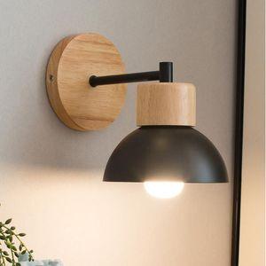 Wall Lamps Nordic Simple Wood Lights Creative Home Decor Balcony Staircase Bedroom Bedside Indoor Lighting Fixtures