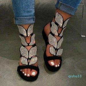 Fashion Women Spring summer Rhinestone Soft-slip Non-slip Sandals Foam Sole Durable Sandals Ladies Outdoor Beach1