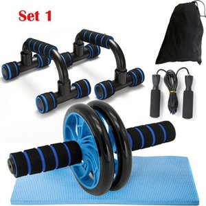 Ab Roller Kit Strong Load Bearing Push Up Bar Jump Rope Knee Pad Home Fitness Gym Abdominal Core Muscle Exerciser wmtVOh xhlove