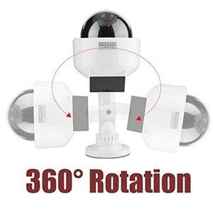 كاميرات CCTV دمية كاميرا وهمية الطاقة الشمسية مراقبة الفيديو في الهواء الطلق وامض الأحمر الصمام محاكاة ptz بطارية الأمن قبة كام