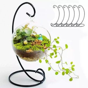 Micro Landscape Ecological Bottle Iron Frame without Vases Wrought Irons Hanging Plant Flower Stand Wedding Home Decoration Supplies WLL664