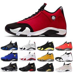 14 14s الرجال أحذية كرة السلة الأسود تو تحديد لحظات الصحراء الرمال se روجو نيغر الرجال أحذية رياضية المدرب الأحذية الرياضية 7-13