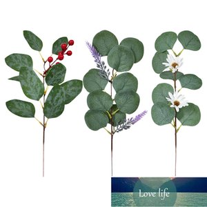 6PCS Simulation Eucalyptus Flower Arrangement Green Plants Artificial Fake Flower DIY Operation Beautiful Elegant Ornament