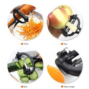 NEW Stainless Steel Rotary Potato Peeler Vegetable Fruit Cutter Kitchen GWA4840