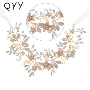 Flower Pearl Headbands For Women Hair Accessories Crystal Bridal Wedding Hairband Headpiece Jewelry Bridesmaid Gift Clips & Barrettes