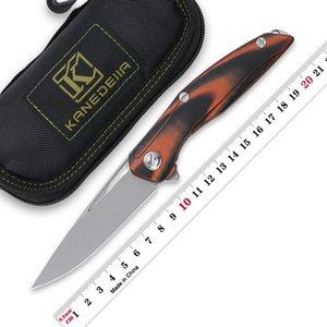 Kanedesiia 111 Flipper Taschenmesser G10 Griff D2 Stahlklinge Outdoor Camping EDC Jagdwerkzeug Fruchtmesser Küchenbedarf