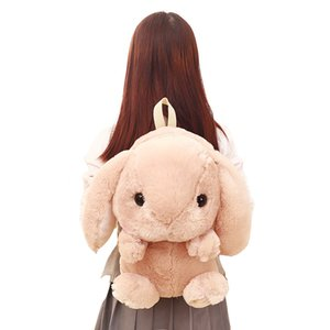 yyh28 Dropshipping LOLITA Rabbit Children Backpack Long Ear cute Bunny Bag Plushie Doll Plush Toys for Girls Kids