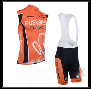 EUSKALTEL team Summer Men cycling sleeveless jerseys vest bib shorts sets breathable Bicycle clothes Ropa Ciclismo Mtb Bike Sportswear Y210