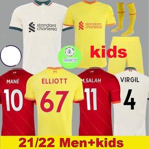 Thailand liverpool 21 22 LVP home soccer jerseys M.SALAH ALEXANDER ARNOLD MANE FIRMINO VIRGIL DIOGO J Thiago A.BECKER football shirt KEITA KONATE men kids kit 999