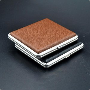 The Luxurious Metal Frosted Cigarette Case Shell Casing Storage Box High Quality Exclusive Design Portable Decorate GWE9299