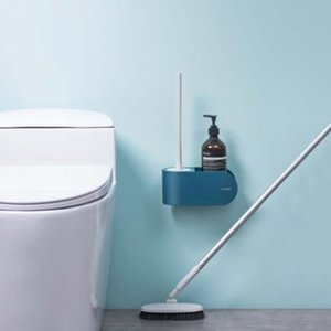 Toilet Brushes & Holders Wall Hanging Cleaning Brush Long Handle No Dead Angle Soft Hair Set Bathroom
