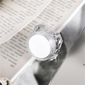 15g Diamond Style Pot Acrylic Cosmetic Empty Jar Eyeshadow Makeup Face Cream Lip Balm Container Bottle Sample Packaging DHE5815