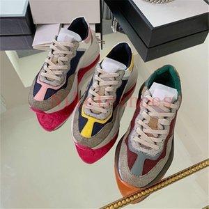 Rhyton Sneaker Beige / Ebony Luxurys Oversize Chaussures Chunky Designer Vintage Senteur Reflective Toile Running Shoe