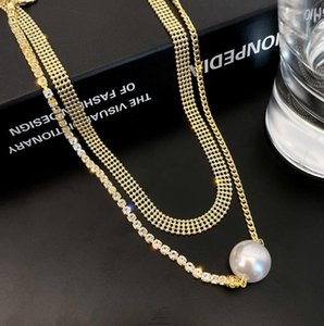 Pearl Pendant Double Necklace Gold Plate Chain for Women Jewelry Discount Arrival
