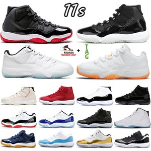 11 11s Citrus Mens Basketball Shoes Sneakers University Low Legend Blue white Bred INFRARED Concord 45 space jam Cool Grey Gamma women Sports Trainers US 5-13