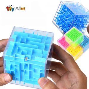 جديد 3d المتاهة ماجيك كتل شفافة ستة جوانب لغز سرعة المتداول الكرة لعبة cubos متاهة لعب للأطفال تعليمية FY4750
