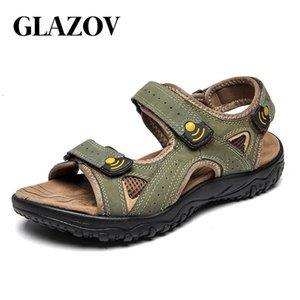 Glazov sommer männer sandalen atmungsaktiv strand outdoor schuhe sommer römische männer sandalen hochwertige hausschuhe weichen unten