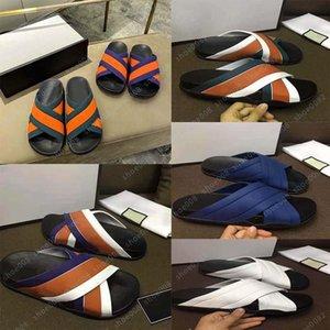 Gucci Hermes Fendi Dior YSL Adidas Valentino Lüks Düz Sandal Tasarım Nakış Siyah Terlik Sığ Plaj Eğlence Kapalı Dantel Kilit Kutusu Tam Aksesuarları Seti 35-44 shoo008 130 VJH