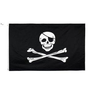 Creepy Ragged older jolly roger Skull Cross bones Pirate Flag Hotsale Direct Factory 100% Polyester 90*150cm 3x5fts OWF10464