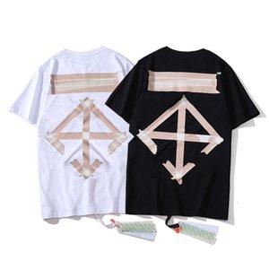 Extra large hoodies T-shirt tee Summer men's Casual ofpf Short Sleeve ow fashion brand SS tape arrow print