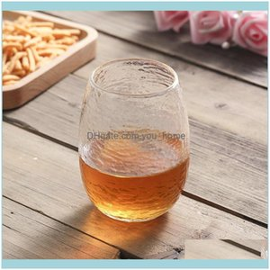 Drinkware Kitchen, Dining Bar Home & Gardennordic Style Transparent Glass Coffee Tea Milk Cups Gold Ding Creative Cup Wine Glasses Drop Deli
