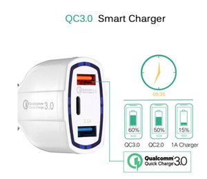 Type c PD car charger 3 Usb Ports fast quick charging auto power adapter 35W 7A car chargers for ipad iphone 8 x samsung s7 s8 android phone