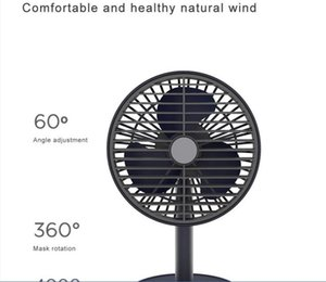 Table Fan Shaking Head Rotating 4000mAh Battery Capacity USB Charging Adjustable Angle Air Cooling Silent Model P20S