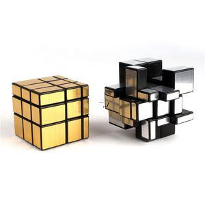 Magic Mirror Cubes Rompecabezas recubiertas fundidas Puzzle profesional CUBE Educación Juguetes para niños AHF6101