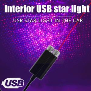 Interior&External Lights Romantic Auto Led Usb Car Interior Atmosphere Light Lamp Plug Decoration Night Projector And Roof Star Adjustable C