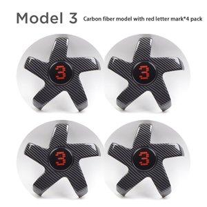 For Tesla Model 3 Wheel Center Caps Model3 Hub Cover Lug Nut Covers Athletic Hubcaps Car Decoration Auto Parts