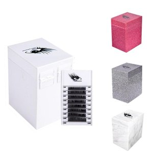 Lashes Display Stand Organizer Box False Eyelashes Glue Pallet Eyelash Extension Makeup Tool Storage Boxes & Bins