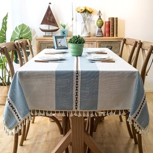 Table Cloth 20 Linen Rectangular Waterproof Oilproof With Tassel , Dining Tablecloth For Home Christmas Birthday Paning Party