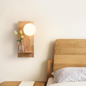 Wall Lamps Creative Wood Lamp LED Bedside Simple Bedroom Living Room Corridor Staircase Aisle Decorative Lighting
