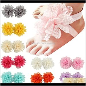 Socks Baby Sandals Cover Barefoot Foot Lace Flower Ties Infant Girl Kids First Walker Shoes Pography Props 13 Colors Inlhj Bjqyl