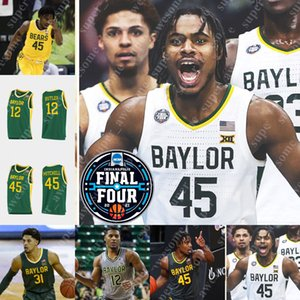 Custom NCAA Baylor Bears Jersey Basketball Jared Butler Macio Teagegue Mark Vital 0 Flo Thamba Adam Drapeau L.J. Cryer Turner Zach Loveday Tchachoua Prince
