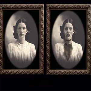 Жуткий Хэллоуин смена лица призрак призрак картина рамка ужасов портрет страшный масляный роспись бар Pub Hotel Hote House House Tricky Zombie вампир тема опоры