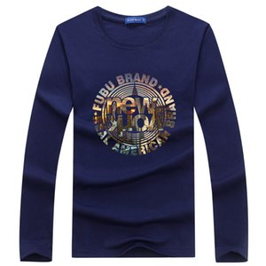 Spring and Autumn Style Men's Long Sleeve T-shirt Printing Pullover Fashion Leisure Personality Base Coat - York