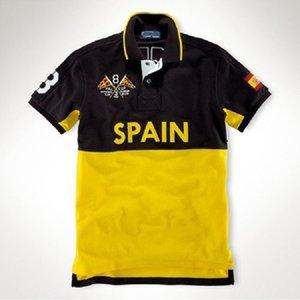 2021 Summer pure cotone polo polo da uomo a maniche corte in maniche corte moda casual sportivo europeo plus size t-shirt